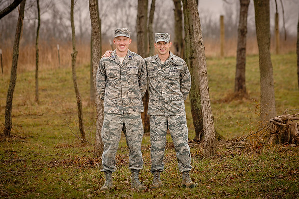May sons Maj. Jason Ayers and ROTC Cadet 4/C Dawson Ayers, US Air Force, home at Christmas.<br /> <br /> Photographer's Name: Terry Lynn  Ayers<br /> Photographer's City and State: Anderson, Ind.