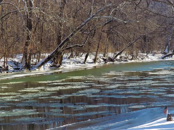 January thaw on the river at Mounds State Park.<br /> <br /> Photographer's Name: J.R. Rosencrans<br /> Photographer's City and State: Alexandria, Ind.