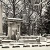 A snowy cemetery near Anderson University.<br /> <br /> Photographer's Name: Barbara Grimball<br /> Photographer's City and State: Anderson, Ind.