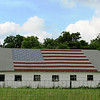 An American flag on a barn in South Madison County.<br /> <br /> Photographer's Name: Brian Fox<br /> Photographer's City and State: Anderson, Ind.