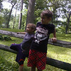 My boys, Thias and Nolan listening to the stories of the Puk-Wud-Jie at Mounds State Park.<br /> <br /> Photographer's Name: Molly McCoy<br /> Photographer's City and State: Anderson, Ind.