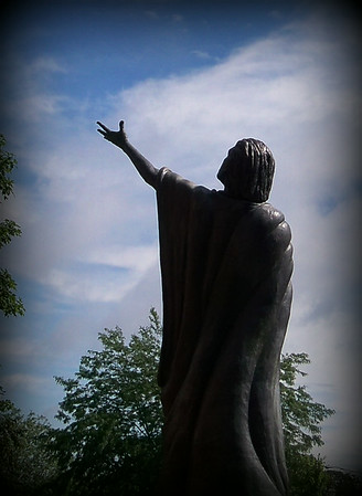 A beautiful statue at St. Vincent Hospital.<br /> <br /> Photographer's Name: Debra Howell<br /> Photographer's City and State: Pendleton, Ind.