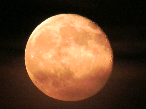 """""""Super moon"""" over Anderson.<br /> <br /> Photographer's Name: Brian Fox<br /> Photographer's City and State: Anderson, Ind."""