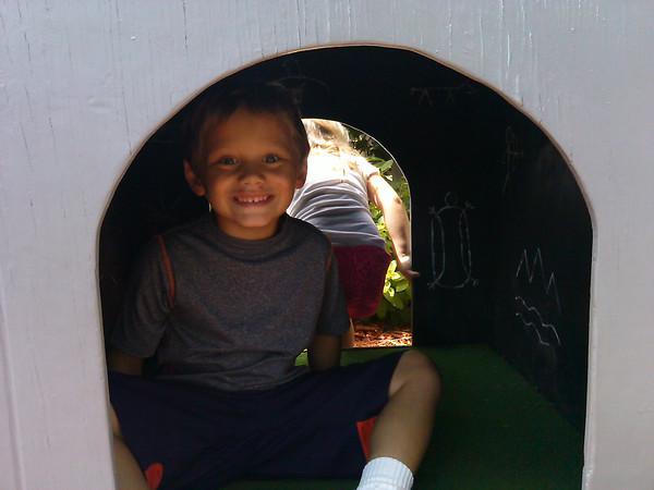 """My son, Thias, enjoying """"The Bat Cave"""" at Mounds State Park.<br /> <br /> Photographer's Name: Molly McCoy<br /> Photographer's City and State: Anderson, Ind."""