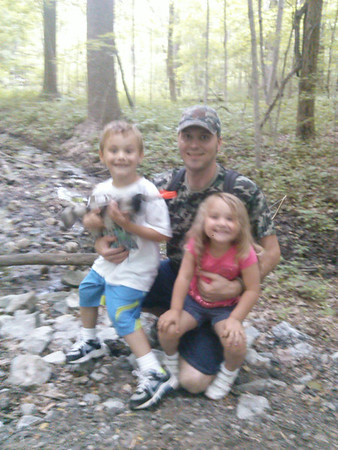 My husband, Brandon, and kids, Thias & Branlin enjoying our hike at Mounds State Park.<br /> <br /> Photographer's Name: Molly McCoy<br /> Photographer's City and State: Anderson, Ind.