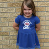 Addie Mac Voiles shows off her old Cubs shirt.<br /> <br /> Photographer's Name: Brian  Fox<br /> Photographer's City and State: Anderson, Ind.