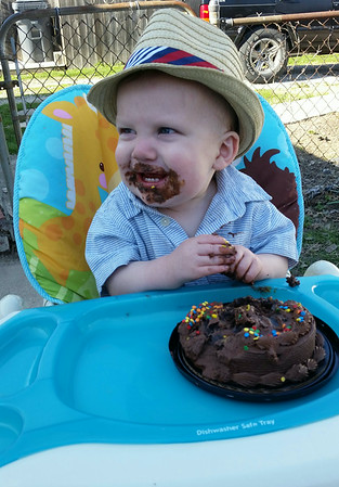 My grandson, Kallen Butler, celebrating his first birthday.<br /> <br /> Photographer's Name: Jill Neff<br /> Photographer's City and State: Anderson, Ind.