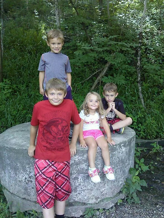 My kids, Avery, Thias, Branlin, and Nolan enjoying their Puk-Wud-Jie Exploration at Mounds State Park.<br /> <br /> Photographer's Name: Molly McCoy<br /> Photographer's City and State: Anderson, Ind.