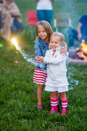 My grandkids, Evie Fox and Kambria Fox, with sparklers.<br /> <br /> Photographer's Name: Terry Lynn Ayers<br /> Photographer's City and State: Anderson, Ind.