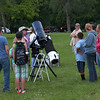 At Mounds State Park people gathered to view the night sky through two large telescopes.<br /> <br /> Photographer's Name: Jerry Byard<br /> Photographer's City and State: Anderson, Ind.
