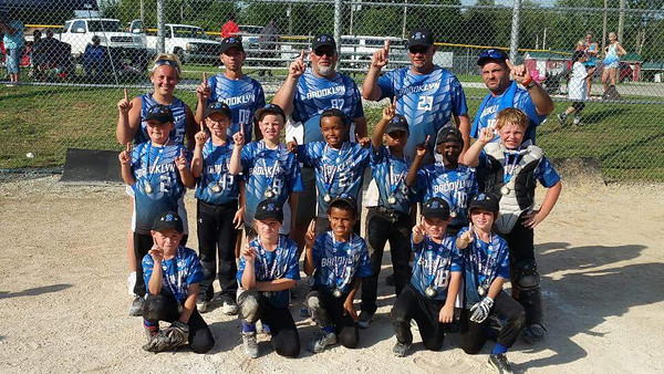 Brooklyn Little League 8-and-under baseball team won district. 7/12/15<br /> <br /> Photographer's Name: Melissa House<br /> Photographer's City and State: Anderson, Ind.