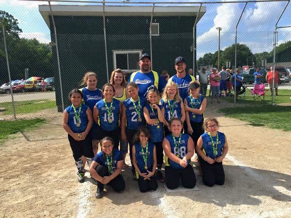 Brooklyn Little League 8-and-under softball team placed second. 7/12/15<br /> <br /> Photographer's Name: Melissa House<br /> Photographer's City and State: Anderson, Ind.