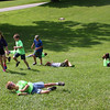 After a day camp activity at Mounds Park some kids wanted to roll down the hill.<br /> <br /> Photographer's Name: Jerry Byard<br /> Photographer's City and State: Anderson, Ind.