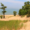 This is a view of Lake Michigan from the top of a dune at Indiana Dunes State Park.<br /> <br /> Photographer's Name: Jerry Byard<br /> Photographer's City and State: Anderson, Ind.