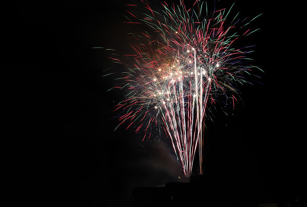 2015 fireworks, firing from the roof.<br /> <br /> Photographer's Name: Bert Happel<br /> Photographer's City and State: Anderson, Ind.