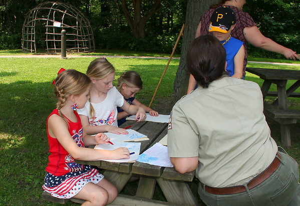 Mounds Park had a 'Stars and Stripes' hike led by Leah Perry on the Fourth of July.<br /> <br /> Photographer's Name: Jerry Byard<br /> Photographer's City and State: Anderson, Ind.
