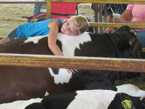 This is what 4-H is about, children and their animals.<br /> <br /> Photographer's Name: Harry Van Noy<br /> Photographer's City and State: Lafayette Township, Ind.