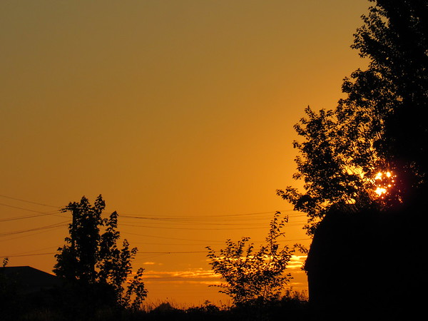 Tuesday night sunset.<br /> <br /> Photographer's Name: Harry Van Noy<br /> Photographer's City and State: Lafayette Township, Ind.