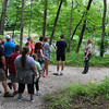 Mounds Park Naturalist Ariel and hikers along White River.<br /> <br /> Photographer's Name: Jerry Byard<br /> Photographer's City and State: Anderson, IN