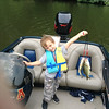 Eli Coxe showing off his catch at Shadyside Lake.<br /> <br /> Photographer's Name: J.R. Rosencrans<br /> Photographer's City and State: Alexandria, Ind.