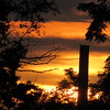 Nicholson File's standing smokestack, in a sunset.<br /> <br /> Photographer's Name: Harry Van Noy<br /> Photographer's City and State: Lafayette Township, Ind.
