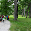 Hikers at Mounds Park on the holiday weekend are learning historical facts from the naturalist.<br /> <br /> Photographer's Name: Jerry Byard<br /> Photographer's City and State: Anderson, Ind.