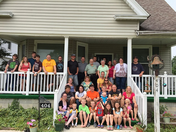 Our family...Sue and myself, our children, grandchildren, and greatgrandson, and three friends from The Netherlands.<br /> <br /> Photographer's Name: Jim Vandiver<br /> Photographer's City and State: Summitville, Ind.