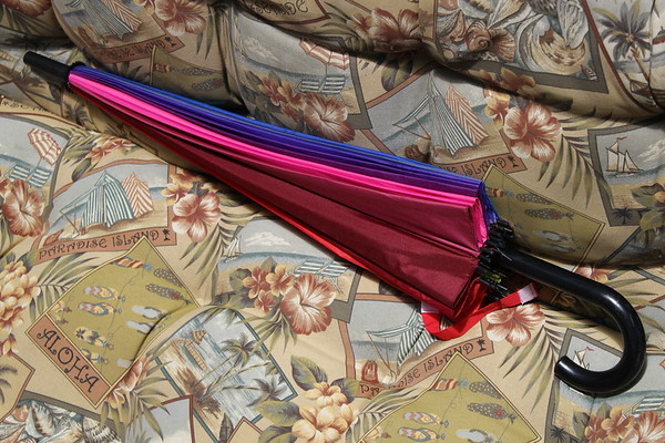 Resting umbrella, after a heavy rain fall.<br /> <br /> Photographer's Name: Harry Van Noy<br /> Photographer's City and State: Lafayette Township, Ind.