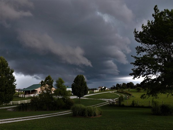 Farm storm in Richland Township.<br /> <br /> Photographer's Name: J.R. Rosencrans<br /> Photographer's City and State: Alexandria, Ind.
