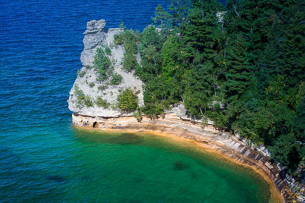 Pictured Rocks National Lakeshore in the Upper Peninsula of Michigan taken by Barbara Grimball of Edgewood, Ind. <br /> <br /> Photographer's Name: Barbara Grimball<br /> Photographer's City and State: Anderson, Ind.