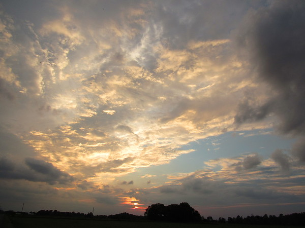 A early July sunset sky over Madison County.<br /> <br /> Photographer's Name: Harry Van Noy<br /> Photographer's City and State: Lafayette Township, Ind.