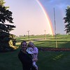 Layne and daughter Reagan in front of beautiful rainbow and faint double rainbow on June 26, 2017.<br /> <br /> Photographer's Name: Layne Jackson<br /> Photographer's City and State: Daleville, Ind.
