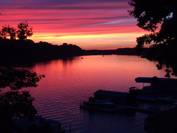 Sunset on 4th of July at Crooked Lake in northern Indiana<br /> <br /> Photographer's Name: Karen Ambler<br /> Photographer's City and State: Anderson, Ind.