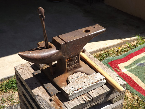 I'll never complain about lugging my briefcase around at work again. An anvil at my barn in Richland Township.<br /> <br /> Photographer's Name: J.R. Rosencrans<br /> Photographer's City and State: Alexandria, Ind.
