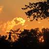A Thursday fiery sunset.<br /> <br /> Photographer's Name: Harry Van Noy<br /> Photographer's City and State: Lafayette Township, Ind.