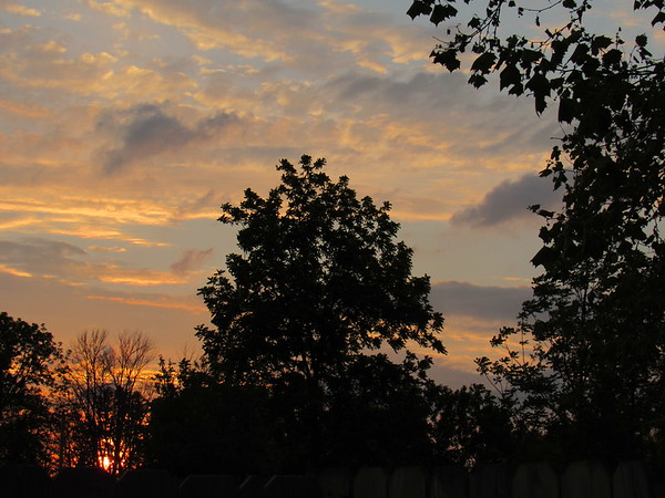 Saturday night sun setting.<br /> <br /> Photographer's Name: Harry Van Noy<br /> Photographer's City and State: Lafayette Township, Ind.