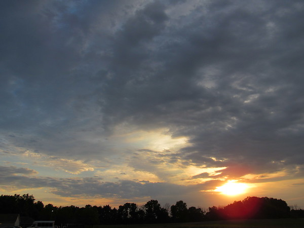 Thursday night sunset.<br /> <br /> Photographer's Name: Harry Van Noy<br /> Photographer's City and State: Lafayette Township, Ind.