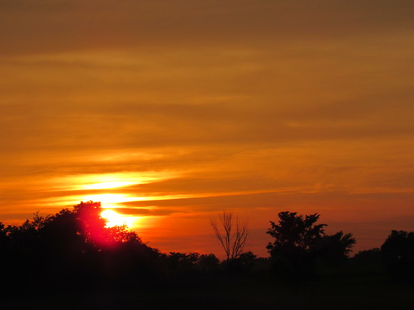 June 1 sunset in Madison County.<br /> <br /> Photographer's Name: Harry Van Noy<br /> Photographer's City and State: Lafayette Township, Ind.