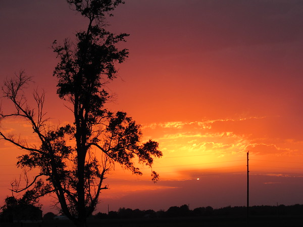 June 6 sunset.<br /> <br /> Photographer's Name: Harry Van Noy<br /> Photographer's City and State: Lafayette Township, Ind.
