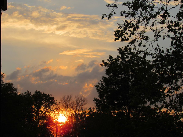 Saturday night sunset.<br /> <br /> Photographer's Name: Harry Van Noy<br /> Photographer's City and State: Lafayette Township, Ind.