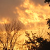 Fiery sunset on Father's Day.<br /> <br /> Photographer's Name: Harry Van Noy<br /> Photographer's City and State: Lafayette Township, Ind.
