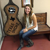 Anderson singer/songwriter Nicole Winkler in the waiting room at the Gladewater Opry in Gladewater, Texas, on June 11.<br /> <br /> Photographer's Name: Nicole Winkler<br /> Photographer's City and State: Anderson, Ind.