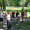 Hikers on Father's Day at Mounds Park learning some history from naturalist Ariel.<br /> <br /> Photographer's Name: Jerry Byard<br /> Photographer's City and State: Anderson, Ind.