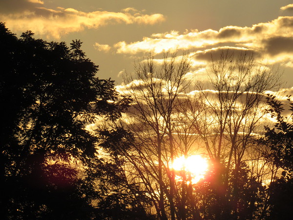 Tuesday evening sunset.<br /> <br /> Photographer's Name: Harry Van Noy<br /> Photographer's City and State: Lafayette Township, Ind.