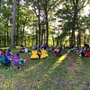 People gathered on Circle Mound on Summer Solstice day listening to Mounds history.<br /> <br /> Photographer's Name: Jerry Byard<br /> Photographer's City and State: Anderson, Ind.
