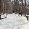 This well-worn Trail 5 at Mounds Park had a lot of hikers recently enjoying the fresh snow.<br /> <br /> Photographer's Name: Jerry Byard<br /> Photographer's City and State: Anderson, Ind.