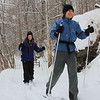 These gals enjoyed skiing last weekend at Mounds State Park during the falling snow.<br /> <br /> Photographer's Name: Jerry Byard<br /> Photographer's City and State: Anderson, Ind.