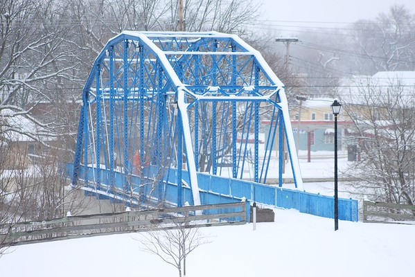 The JFK walking bridge in the snow.<br /> <br /> Photographer's Name: Brian Fox<br /> Photographer's City and State: Anderson, Ind.