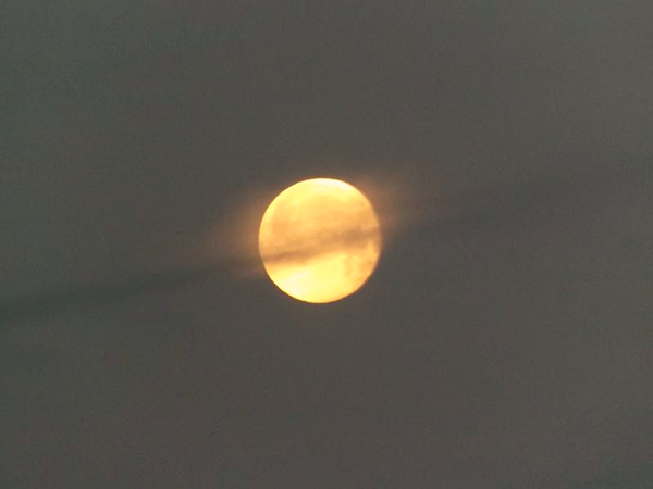 """The """"worm moon"""" is the full moon for March.<br /> <br /> Photographer's Name: J.R. Rosencrans<br /> Photographer's City and State: Alexandria, Ind."""