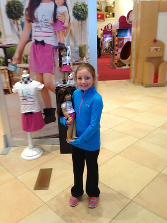 My granddaughter Lilly McIntyre at the American Girl store in Chicago.<br /> <br /> Photographer's Name: Tina Snyder<br /> Photographer's City and State: Anderson, Ind.